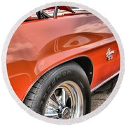 Orange Chevelle Ss 396 Round Beach Towel