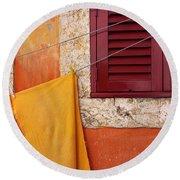 Orange Cloth  Round Beach Towel