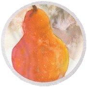 Orange Pear Round Beach Towel