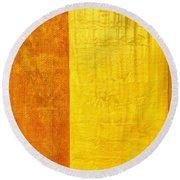 Orange Pineapple Round Beach Towel