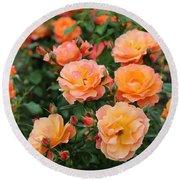 Orange Roses Round Beach Towel