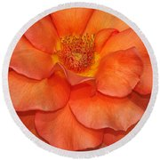 Orange Sherbert Round Beach Towel