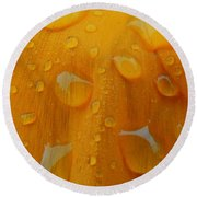 Orange Splash Round Beach Towel