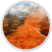 Orange Stones Round Beach Towel