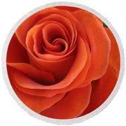 Orange Twist Rose 2 Round Beach Towel