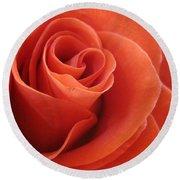 Orange Twist Rose 3 Round Beach Towel