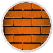 Orange Wall Round Beach Towel by Semmick Photo
