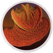 Orange Weave Round Beach Towel