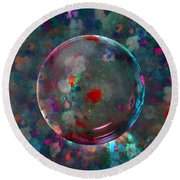 Orbed In Spring Blossom Round Beach Towel