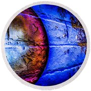 Orbiting The Wall Round Beach Towel