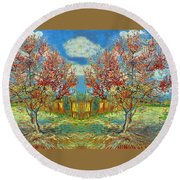 Orchards Round Beach Towel