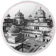 Orchha's Palace - India Round Beach Towel