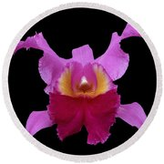 Orchid 002 Round Beach Towel