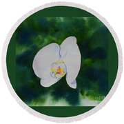 Orchid Dance 1 Round Beach Towel