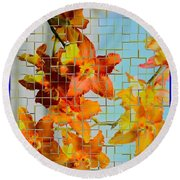 Orchid Drapes Round Beach Towel
