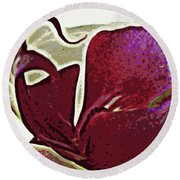 Orchid Facing Up Round Beach Towel