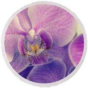 Orchid Lilac Dark Round Beach Towel