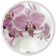 Orchid Pink Vintage Round Beach Towel