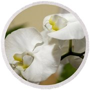 Orchid Purity Round Beach Towel