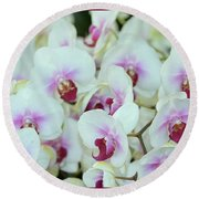 Orchid Sea Round Beach Towel