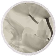 Orchid Sepia Round Beach Towel