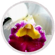 Orchid Series 2 Round Beach Towel