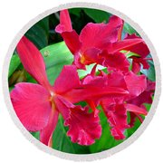 Orchid Series 3 Round Beach Towel