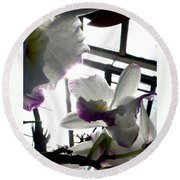 Orchid Series 4 Round Beach Towel