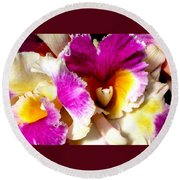 Orchid Series 6 Round Beach Towel