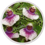 Orchids Four Round Beach Towel