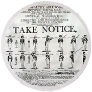 Order Of Battle - Take Notice Brave Men Round Beach Towel