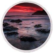 Oregon Afterglow Round Beach Towel