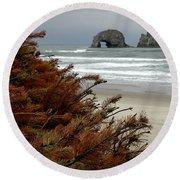 Oregon Beach Round Beach Towel
