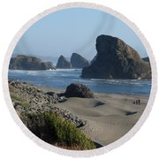 Oregon Coast 1 Round Beach Towel