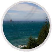 Oregon Coast II Round Beach Towel
