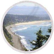 Oregon Coast View Round Beach Towel