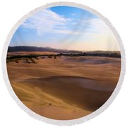 Oregon Dunes Landscape Round Beach Towel