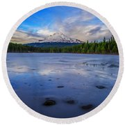 Oregon January Round Beach Towel