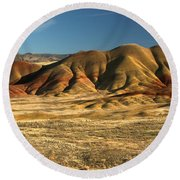 Oregon Painted Hills Round Beach Towel