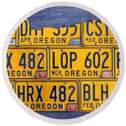 Oregon State License Plate Map Mixed Media By Design Turnpike
