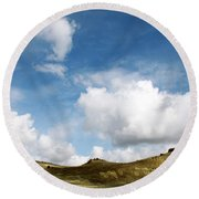 Oregon Trail Country Round Beach Towel