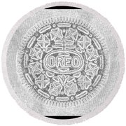 Oreo In Grey Round Beach Towel by Rob Hans