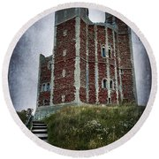 Orford Castle Round Beach Towel by Svetlana Sewell