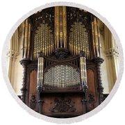 Organ Chapel Royal - Dublin Castle Round Beach Towel