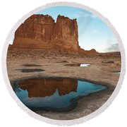 Organ Formation, Arches National Park Round Beach Towel