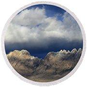 Organ Mountains New Mexico Round Beach Towel