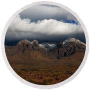 Organ Mountains New Mexico Round Beach Towel