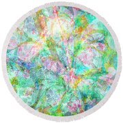 Organic Colors By Jan Marvin Round Beach Towel