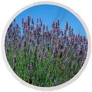 Organic Lavender Round Beach Towel