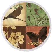 Organic Nature 1 Round Beach Towel
